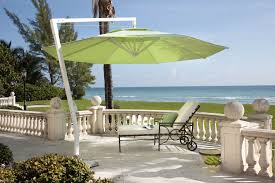 Cantilever Patio Umbrellas by Astonishing White Two Tiered Canopy Cantilever Umbrella Design