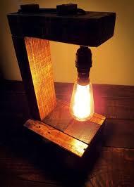 Edison Bulb Table Lamp Pallet Table Lamp With Edison Bulb