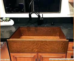 36 stainless steel farmhouse sink 36 copper farmhouse sink double bowl copper kitchen sink available