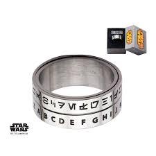 spinner ring stainless steel wars aurebesh spinner ring