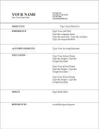 How To Create A Federal Resume How To Do A Resume For A Job For Free Resume Template And