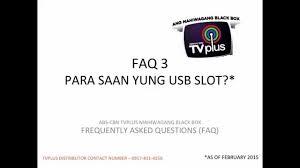 faq3 tvplus usb slot youtube