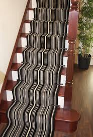 Black And White Striped Runner Rug Striped Cut To Measure Any Length Stair Carpet Runner Rug