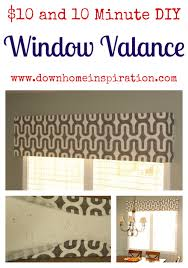 How To Make Window Cornice 10 And 10 Minute Diy Window Valance Down Home Inspiration