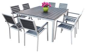 square outdoor dining table spacious cantina 9 piece outdoor dining set contemporary at square