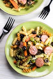 smoked sausage pasta salad homemade hooplah