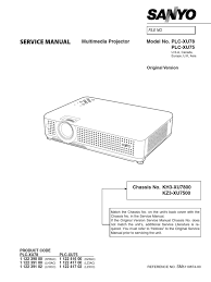 sanyo plc xu75 xu78 service manual color balance electronic