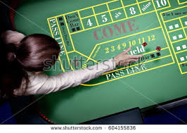 Craps Table Dice Before Throw On Craps Table Stock Illustration 544562701