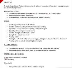 Entry Level Phlebotomy Resume Examples phlebotomist resume sample phlebotomist resume sample jack myers