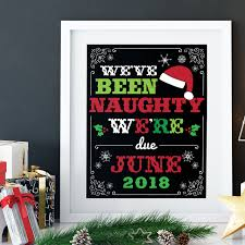 christmas pregnancy announcement personalized we ve been christmas pregnancy announcement sign