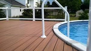 composite decking above ground pools composite pool decking