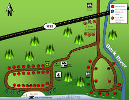 Michigan Campgrounds Map by Fuller Campground Delta County Parks