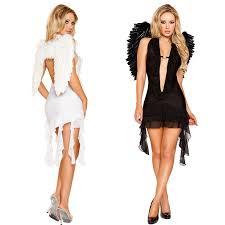 Angel Halloween Costumes Aliexpress Buy 2 Color Popular Black White Angels