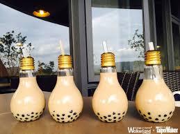 light bulb bubble tea this next level milk tea lights up your life foodamentals