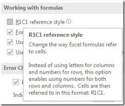 r1c1 reference style in excel officesmart