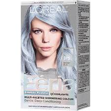 best boxed blonde hair color feria smokey pastels p1 smokey blue hair color 1 kt box beauty