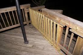 sliding deck gate sliding on wheels diy wooden deck gate looks