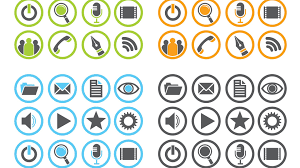 free famous social media icons sets collection icon grid dreaded