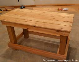 Plant Bench Plans - build a potting bench or garden buffet table pottery barn abbott