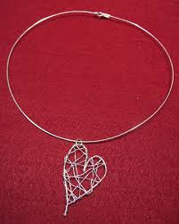 silver wire necklace images Diy wire heart necklace byte sized pieces jpg