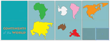 continents on map montessori continents map quietbook with 3 part cards imagine