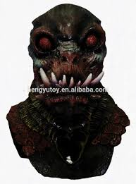 alien peeling scary clown face horror monster latex