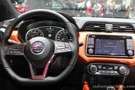 nissan micra 2017 nissan micra interior geneva motor show live indian autos blog
