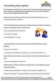 ideas of direct speech worksheets for grade 3 on description