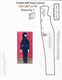 sewing pattern ninja costume free printable pattern and tutorial for dolls ninjacostume