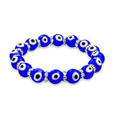 bracelet evil eye jewelry images Evil eye 10mm blue stretch crystal bracelet silver jpg