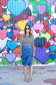tie front chambray skirt los angeles hearts wall mural