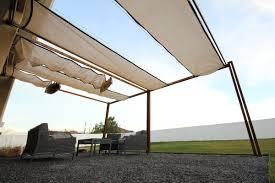 kingbird design llc pergola with retractable shades