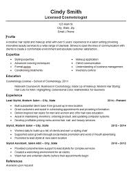 cosmetology resume sample resume samples and resume help
