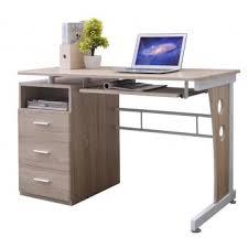bureau tiroirs bureau informatique couleur chêne avec tiroirs de rangement