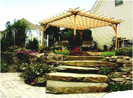 Backyard Slope Landscaping Ideas Image Of Landscaping Ideas For Backyards With Slopes Fabulous