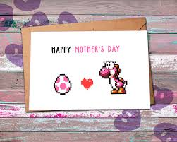 nerdy s day cards mothers day card nerdy mothers day card yoshi egg