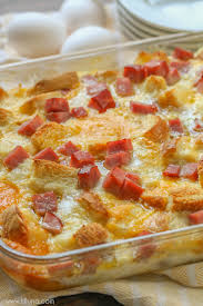 egg strata casserole ham and cheese breakfast strata recipe lil luna