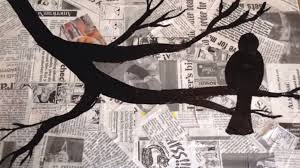 the crafting coach learn how to make newspaper silhouette wall