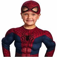 Boys Spider Halloween Costume Spider Man Movie 2 Muscle Toddler Halloween Costume Walmart