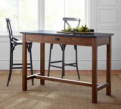 metal bar height table channing bar height table pottery barn