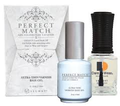 perfect match gel polish and nail lacquer ultra thin varnish base gel