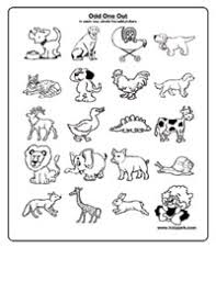 ukg worksheet for kids to take odd one out downloadable activity