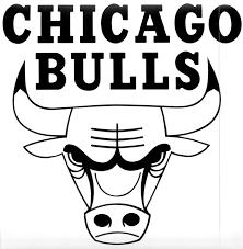 printable bulls schedule chicago bulls logo black and white be inspired pinterest