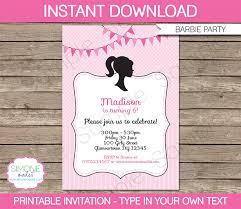 barbie party theme printables u0026 invitations