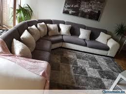 canap d angle blanc gris canapé d angle blanc gris a vendre à ciney 2ememain be