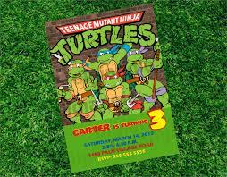 a design ninja turtle birthday invitation template