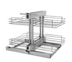 organizer for corner kitchen cabinet blind corner cabinet wire pullout organizer with soft slides