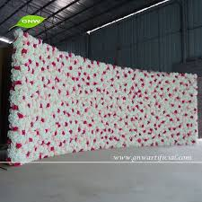 wedding backdrop flower wall gnw 6 5ft hot selling wedding backdrop hanging artificial flowers