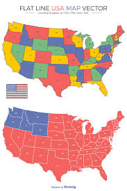 Usa Map Vector by 48 Flat Line Us Map Vectors Freebie Free Download Billion