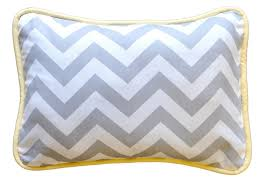 Yellow and Gray Chevron Throw Pillow